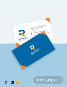 University Faculty Business Card Template