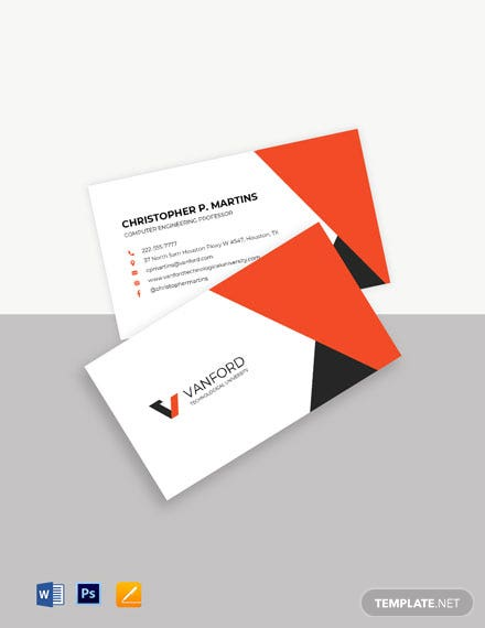 Academic Business Card Template