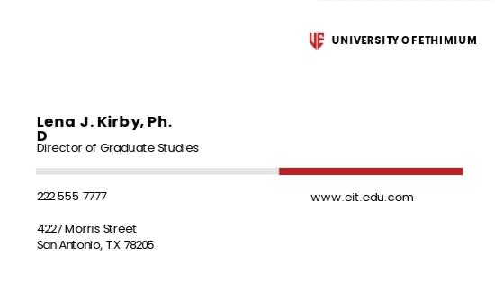 University Graduate Business Card Template 1.jpe