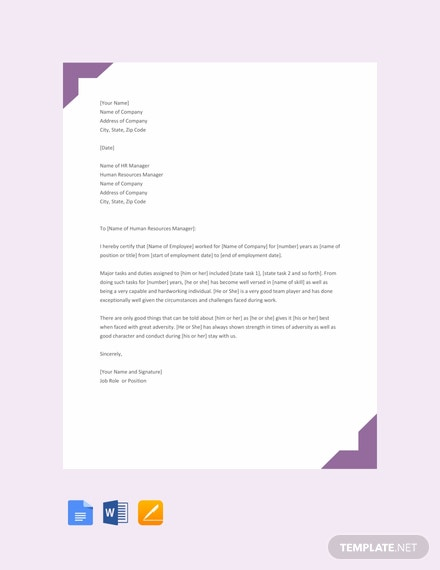 Free Job Experience Letter Template Download 1639 Letters In Word
