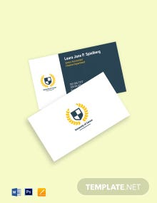 University Department Business Card Template