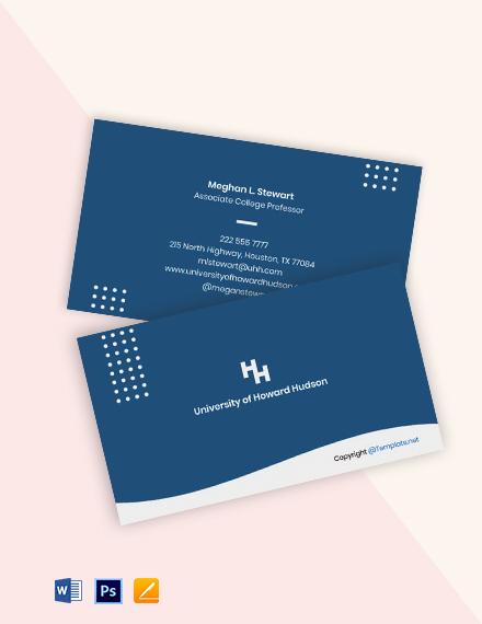 Free Modern University Business Card Template