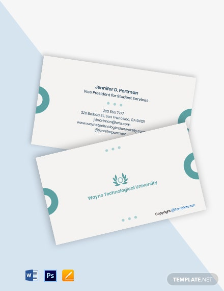 Free Creative University Business Card Template