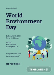 World Environment Day Invitation Card Template