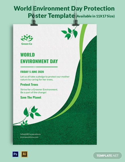 World Environment Day Protection Poster Template
