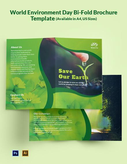 World Environment Day Brochure Template