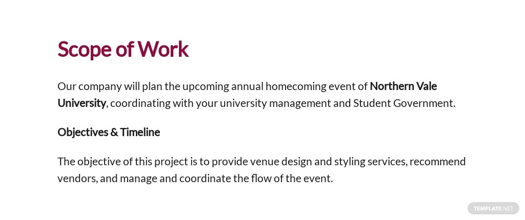 University Event Planning Proposal Template [Free PDF] - Google Docs, Word, Apple Pages