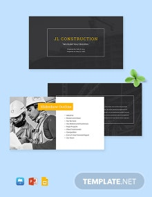 Construction Year End Financial Report Presentation Template
