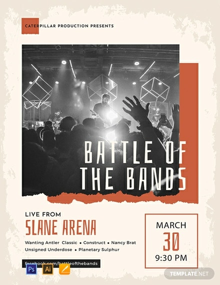 Free Band Poster Template