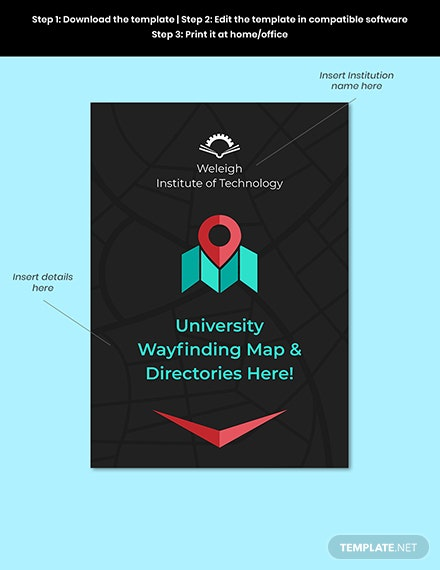 Campus Map Signage Template Format