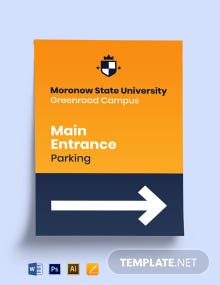 University Main Identification Sign Template
