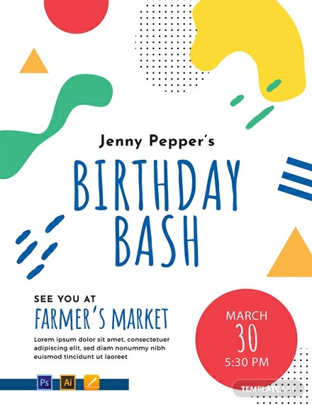 Birthday Event Poster Template