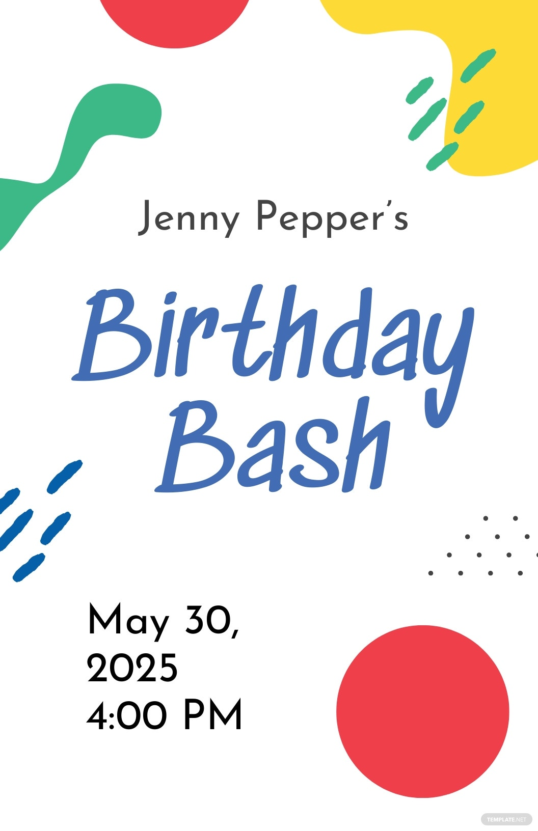Free Birthday Event Poster Template.jpe