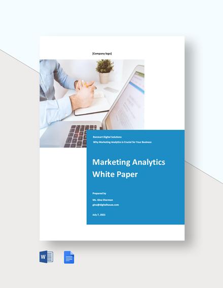 Marketing Analytics White Paper Template