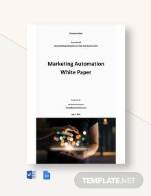 Marketing Automation White Paper Template