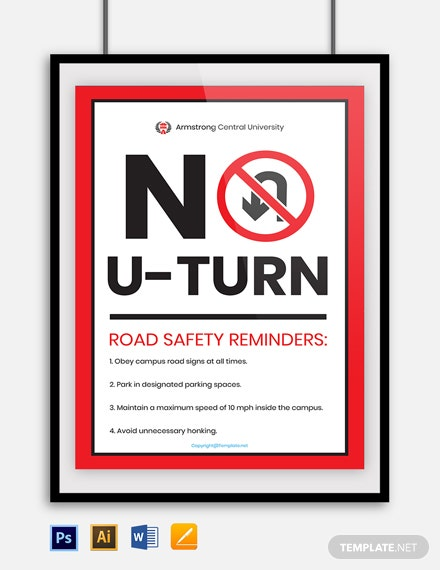 Free University Road Sign Template