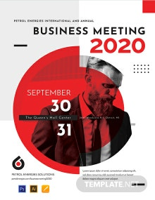 Free Business Event Poster Template