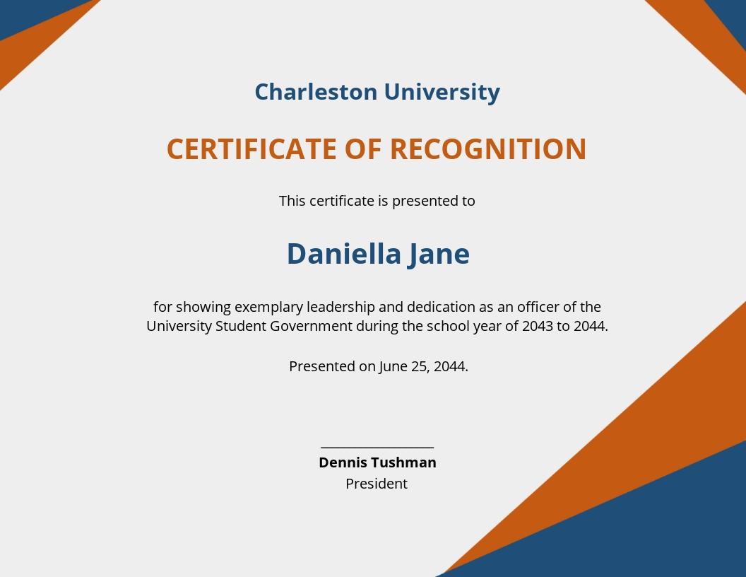 Free Simple University Certificate Template.jpe