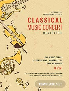 Classic Music Concert Poster Template