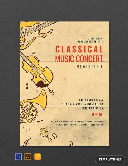 Free Classic Music Concert Poster Template
