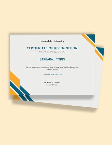 Free University Certificate Format Template
