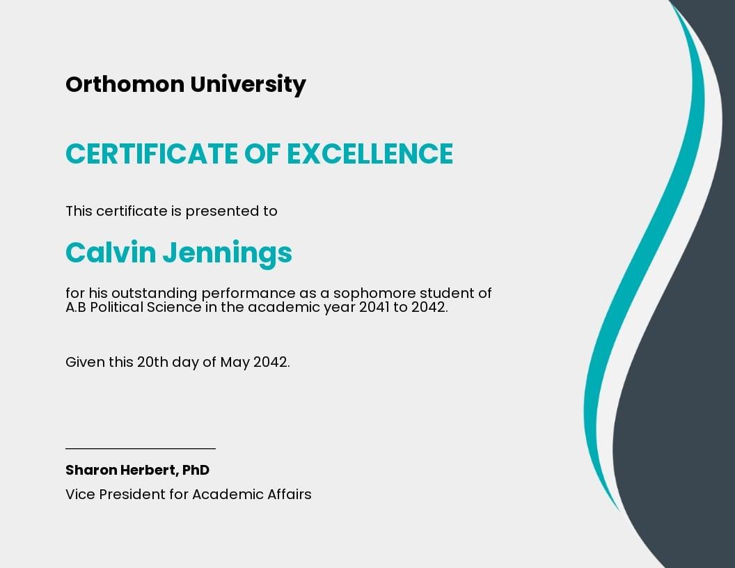 Free Modern University Certificate Template.jpe