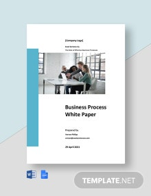 Business Process White Paper Template
