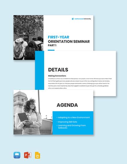 University Seminar Presentation Template
