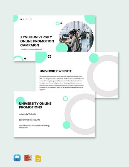 University Promotion Presentation Template