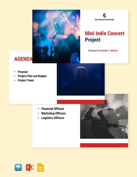 University Project Presentation Template