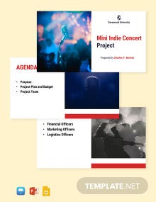 University Project Presentation Template