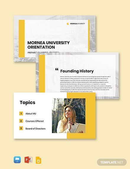 University Introduction Presentation Template
