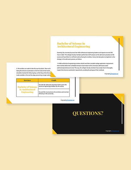 Free Modern University Presentation Template Format