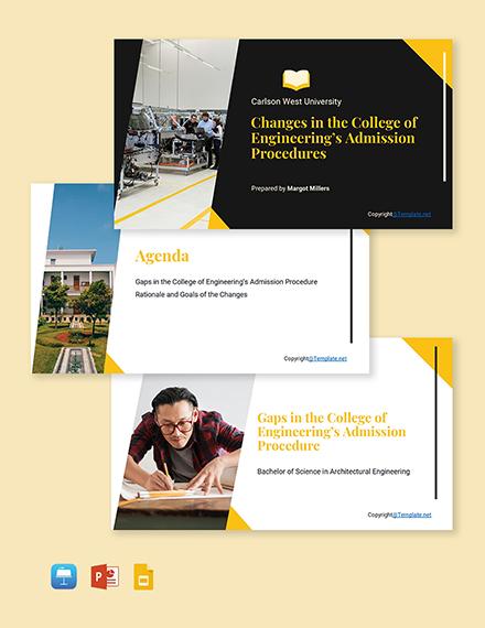 Free Modern University Presentation Template