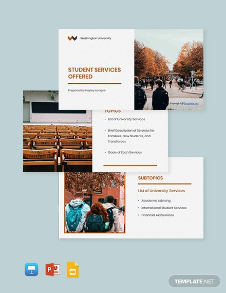 Free Simple University Presentation Template