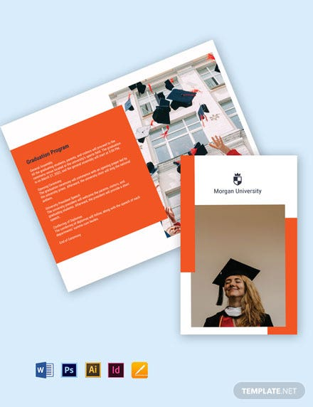Bi-Fold University Graduation Brochure Template