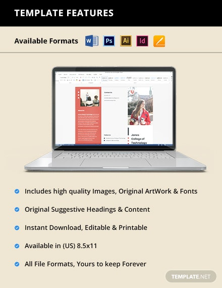 Trifold University Admission Brochure Printable