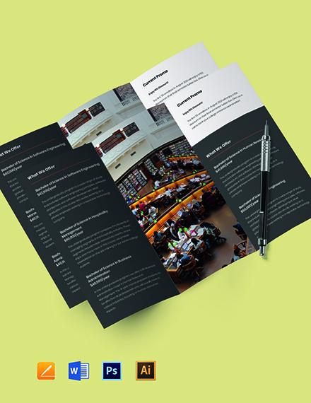 Tri-Fold College & University Brochure Template
