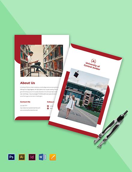 Bi-Fold College & University Brochure Template