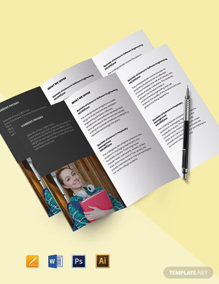 Tri-Fold University Education Brochure Template