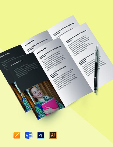 Tri-Fold University Education Brochure Template