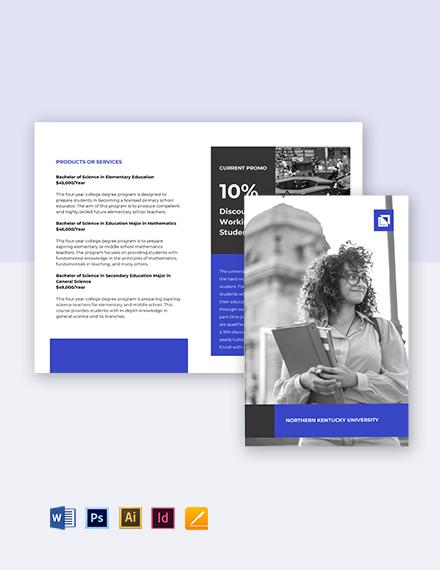 Bi-Fold University Education Brochure Template