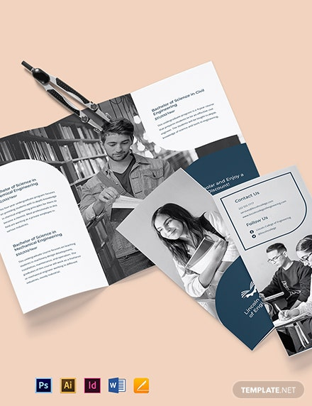 Trifold University College Brochure Template