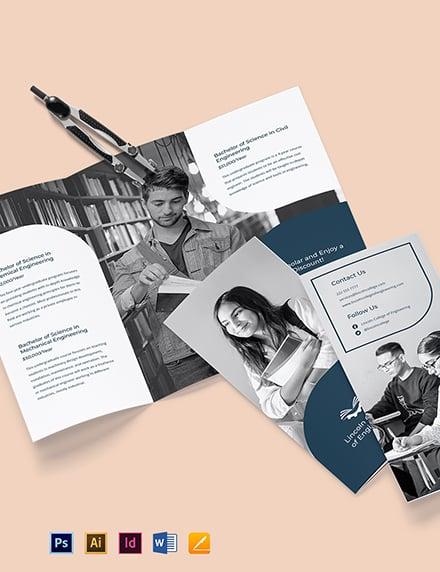Tri-Fold University College Brochure Template