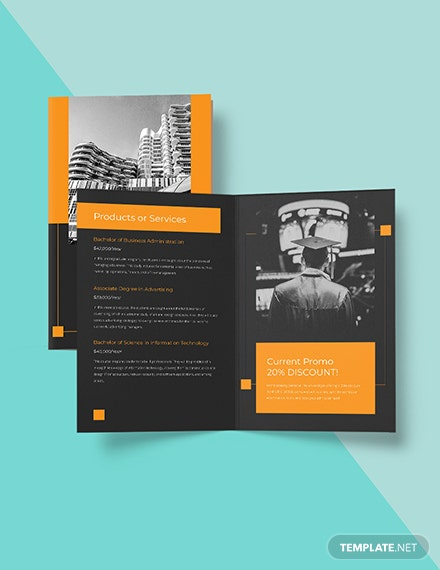 Bifold University College Brochure Template Format