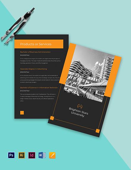 Bi-Fold University College Brochure Template