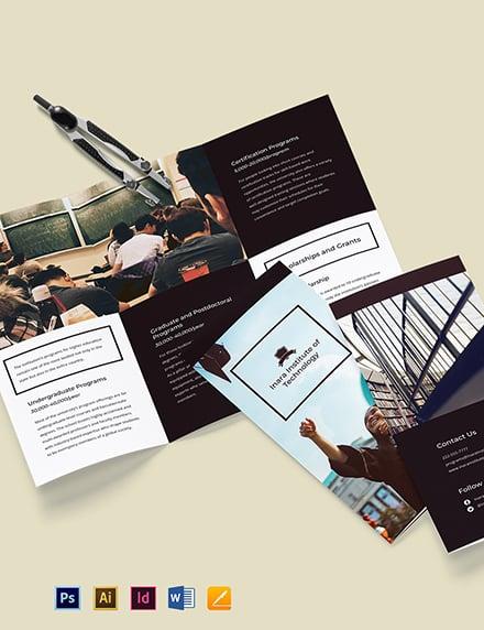 Tri-Fold University Studies Brochure Template