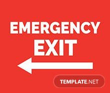 Free Emergency Sign Template