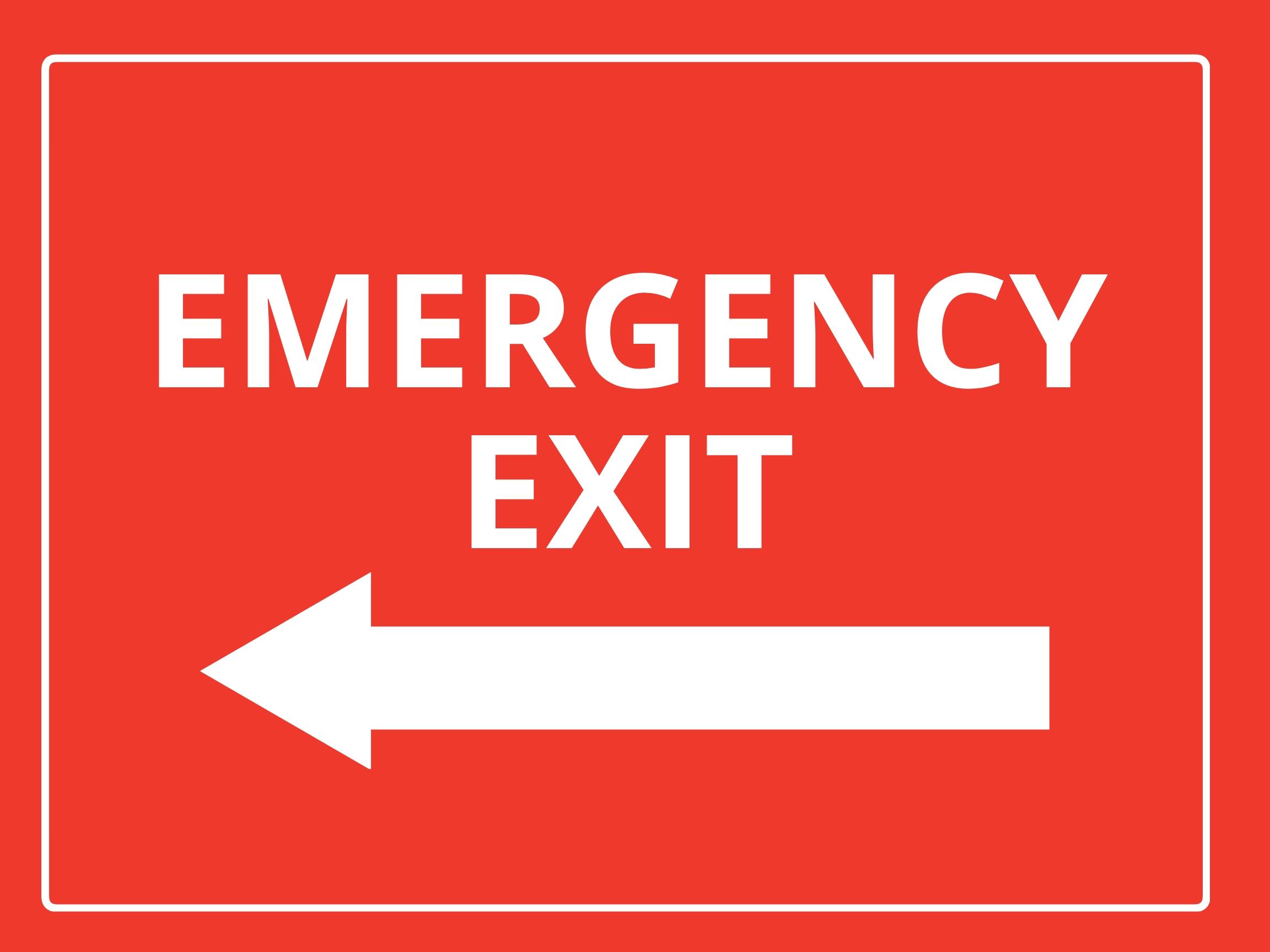 Free Emergency Sign Template.jpe