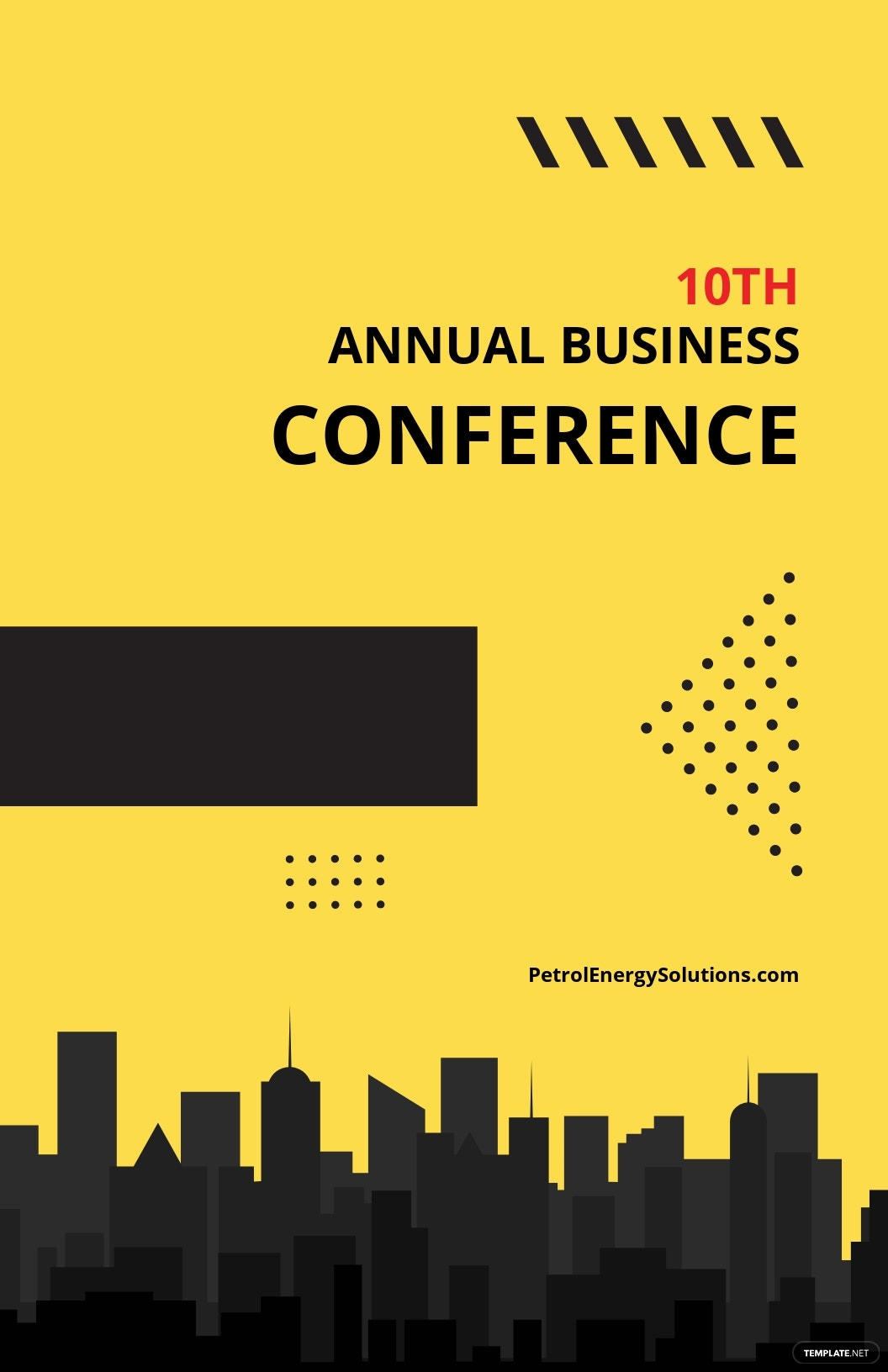 Conference Poster Template [Free JPG] - Illustrator, Apple Pages, PSD